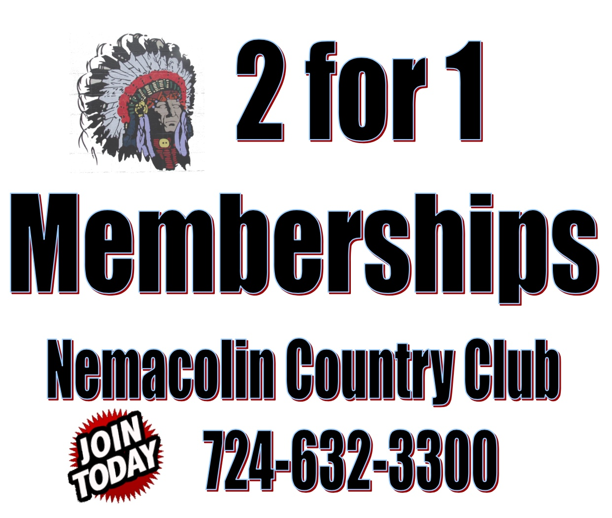 2 for 1 memberships
